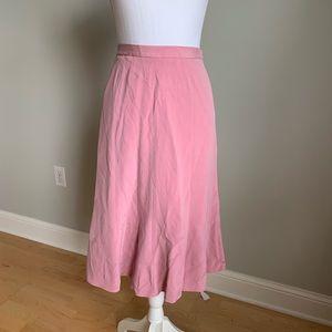 Jones NY 100% silk pink below knee skirt, NWT, 18W